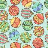 Vector seamless pattern with christmas balls Royalty Free Stock Photos