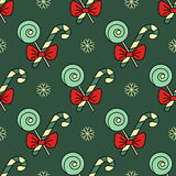 Vector seamless pattern with Christmas candy canes Stock Image