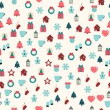 Vector seamless pattern of christmas decoration. Vector seamless pattern of christmas color decoration Royalty Free Stock Photography