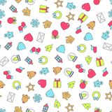 Vector seamless pattern of christmas decoration. Vector seamless pattern of christmas color decoration Stock Photo