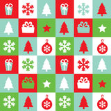 Vector seamless pattern Christmas Stock Photos