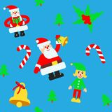 Christmas elements vector seamless pattern Royalty Free Stock Images
