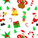 Christmas elements vector seamless pattern Stock Photo