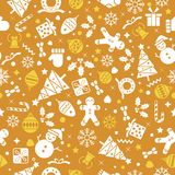 Vector seamless pattern with Christmas elements. vector illustration