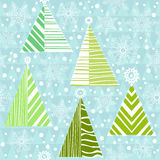 Vector seamless pattern of christmas tree Stock Photo