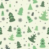 Vector seamless pattern of christmas tree. Eps 10 Royalty Free Stock Photos