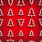Vector seamless pattern of christmas tree Royalty Free Stock Images