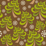 Vector seamless pattern with christmas tree Royalty Free Stock Photo