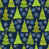 Vector seamless pattern of christmas tree. Template for postcards. Template for postcards, greetings, advertisements, covers gift packaging web design Royalty Free Stock Photos