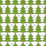 Vector seamless pattern of christmas tree Royalty Free Stock Photos