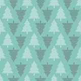 Vector seamless pattern with Christmas trees. New year background, pattern. Vector seamless pattern with Christmas trees. New year background, pattern Stock Photo
