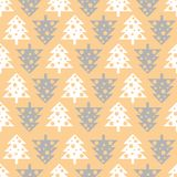 Vector seamless pattern with Christmas trees. New year background, pattern. Vector seamless pattern with Christmas trees. New year background, pattern Royalty Free Stock Image