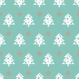 Vector seamless pattern with Christmas trees. New year background, pattern. Vector seamless pattern with Christmas trees. New year background, pattern Royalty Free Stock Photo