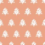 Vector seamless pattern with Christmas trees. New year background, pattern. Vector seamless pattern with Christmas trees. New year background, pattern Royalty Free Stock Photography