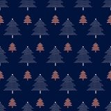 Vector seamless pattern with Christmas trees. New year background, pattern. Vector seamless pattern with Christmas trees. New year background, pattern Royalty Free Stock Images