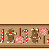 Vector seamless pattern. Christmassy cookies Stock Photos