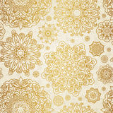 Vector seamless pattern with circle ornaments. Royalty Free Stock Photography