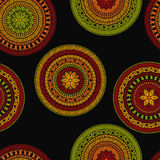 Vector Seamless Pattern with Circles Stock Images