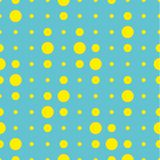 Vector seamless pattern. Circles, point, spots, polka dot texture. Modern graphic design. Hipster creative tileable print.  Stock Image