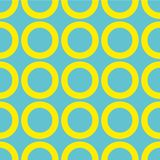 Vector seamless pattern. Circles, point, spots, polka dot texture. Modern graphic design. Hipster creative tileable print.  Royalty Free Stock Photography