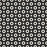 Vector seamless pattern with circles, rings and dots. Vector seamless pattern with small circles and dots. Simple funky geometric dotted texture, perforated Vector Illustration