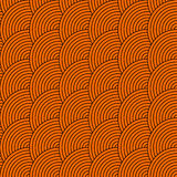 Vector seamless pattern of circles in squama style Stock Photography