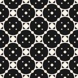 Vector seamless pattern, with circular lattice, rounded grid, small dots. Vector seamless pattern, abstract geometric monochrome texture with circular lattice Stock Photography