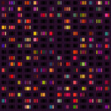 Vector seamless pattern of city lights. Can be used for fabric, textile, wrapping and packaging stock illustration