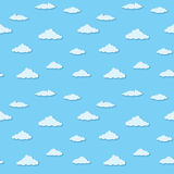 Vector seamless pattern - clouds on blue sky Royalty Free Stock Photos