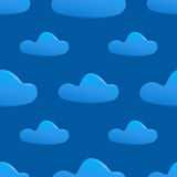 Vector seamless pattern of clouds Stock Image