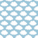 Vector seamless pattern with clouds Stock Photos