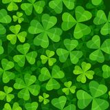 Seamless pattern with clover three and four leaves vector illustration