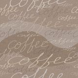 Vector seamless pattern with coffee Stock Image