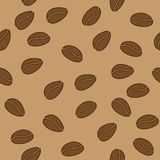 Vector seamless pattern with coffee beans. This is file of EPS10 format Royalty Free Stock Photo