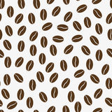 Vector seamless pattern with coffee beans Royalty Free Stock Photo