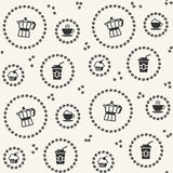 Vector seamless pattern with coffee icon royalty free illustration