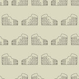 Vector seamless pattern with coliseum Royalty Free Stock Photography