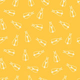 Vector seamless pattern with color bee Royalty Free Stock Images