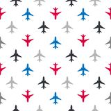 Vector seamless pattern with color flat planes. For kids Royalty Free Stock Photo