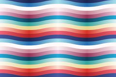 Vector seamless pattern with color wavy strips. Royalty Free Stock Photo