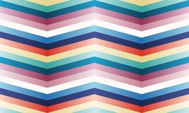 Vector seamless pattern with color zigzag strips. Stock Photography