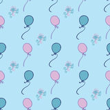 Vector seamless pattern with colored balloons Stock Image