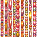 Vector seamless pattern with colored beads Royalty Free Stock Images