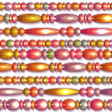 Vector seamless pattern with colored beads Royalty Free Stock Photos