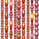 Vector seamless pattern with colored beads Royalty Free Stock Photography