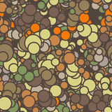 Vector seamless pattern of colored circles with Stock Photo