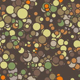 Vector seamless pattern of colored circles with Royalty Free Stock Photography