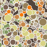 Vector seamless pattern of colored circles with Royalty Free Stock Photos