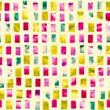 Vector seamless pattern with colored square Stock Photography