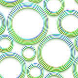 Vector seamless pattern with colored threads and Stock Images